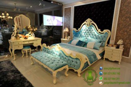 model set kamar mewah terbaru desain cantik warna putih harga murah dan berkualitas
