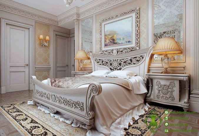 tempat tidur mewah desain victorian
