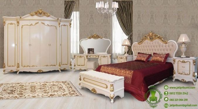 tempat tidur set model ukiran