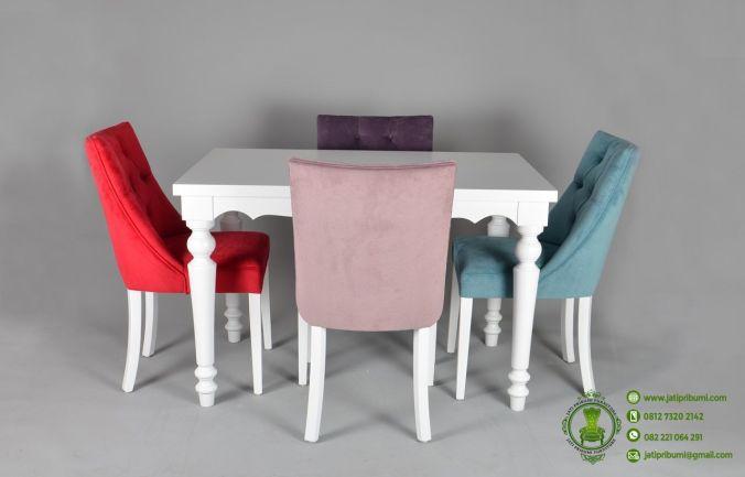 Meja Makan Minimalis Modern Kursi 4 model terbaru desain simpel harga murah untuk ruang makan kecil