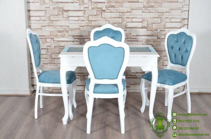 meja makan minimalis putih model terbaru (1)