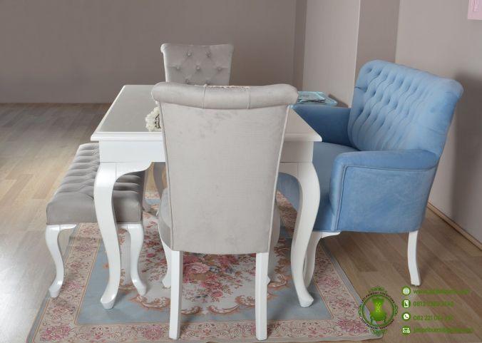 Meja Makan Minimalis Putih Model Terbaru (3)