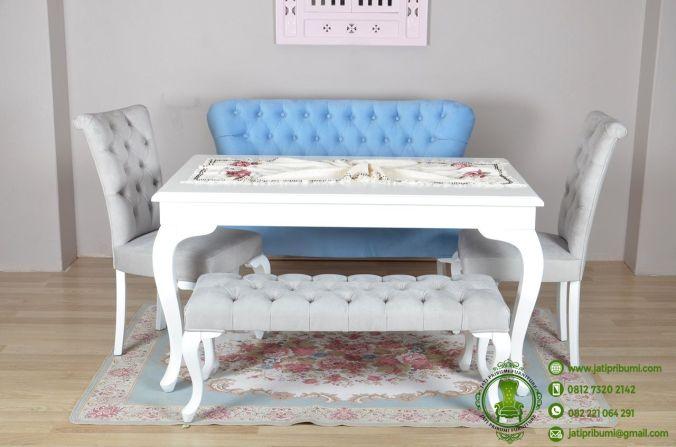 Meja Makan Minimalis Putih Model Terbaru (4)