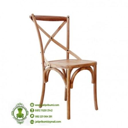kursi cafe silang kayu jati harga murah berkualitas
