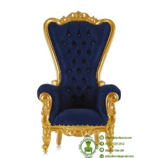 kursi mewah warna emas jok biru (1)