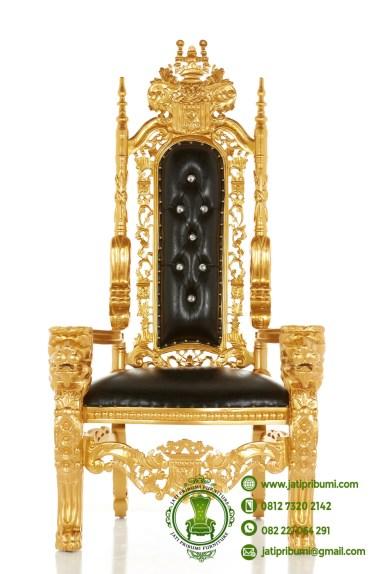 kursi raja warna emas jok hitam