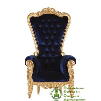 kursi ukiran warna emas jok biru (1)